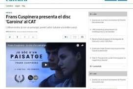 Frans Cuspinera presenta el disc 'Garoina' al CAT