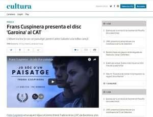 Diari ARA: Frans Cuspinera presenta el disc 'Garoina' al CAT