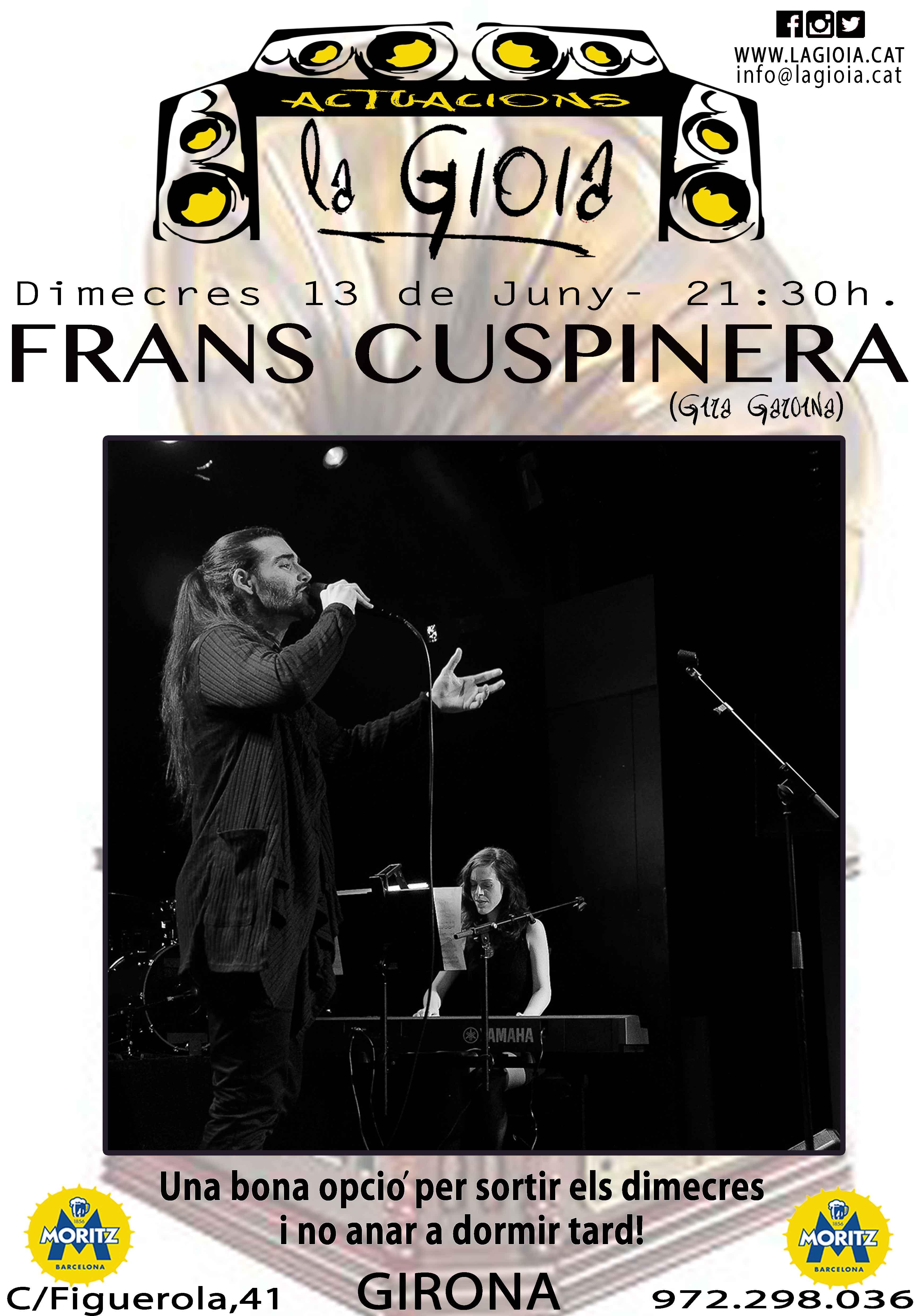Concert de Frans Cuspinera a la Gioia