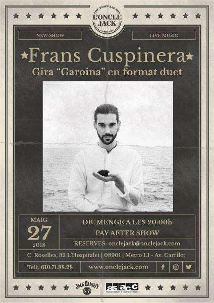 Concert de Frans Cuspinera a l'Oncle Jack