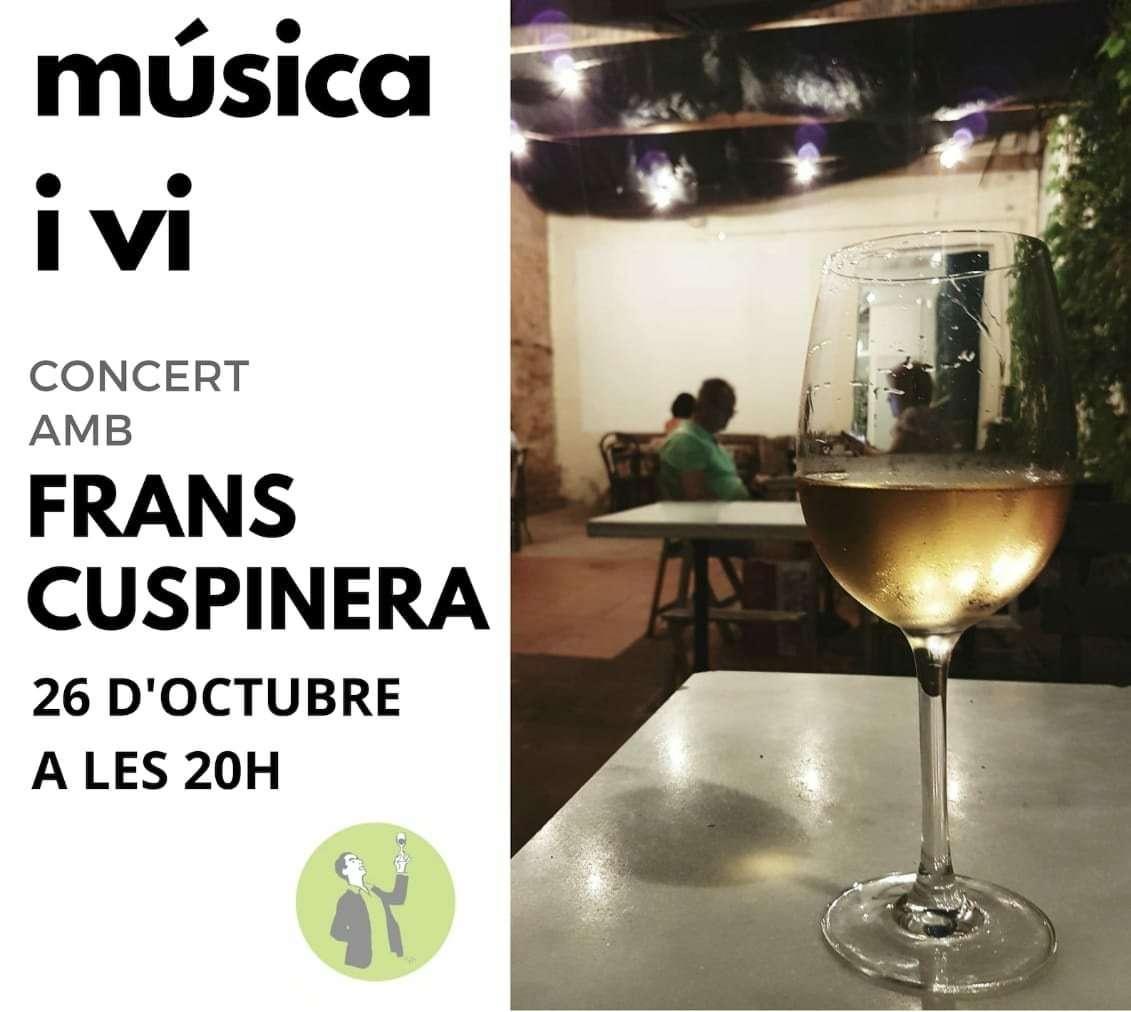 Concert de Frans Cuspinera al Celler Castellví de Mataró